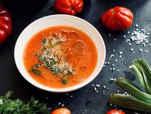 Томатный суп с гогошарами