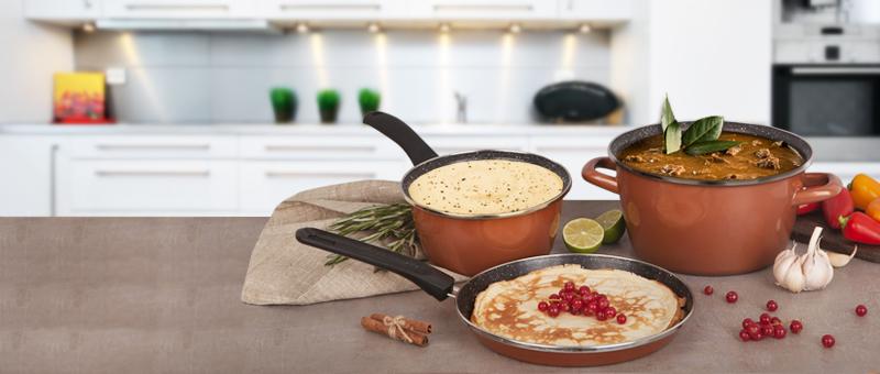 Набор кухонной посуды Масленица CopperLUX