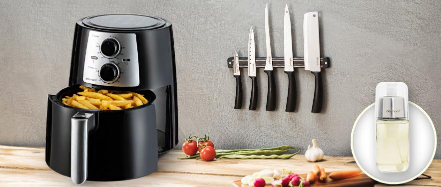 Набор из фритюрницы Air Fryer Pro и ножей Brava