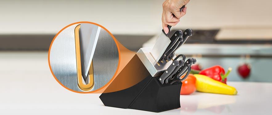 ТОЛЬКО ОНЛАЙН - Набор ножей с подставкой и ножеточкой