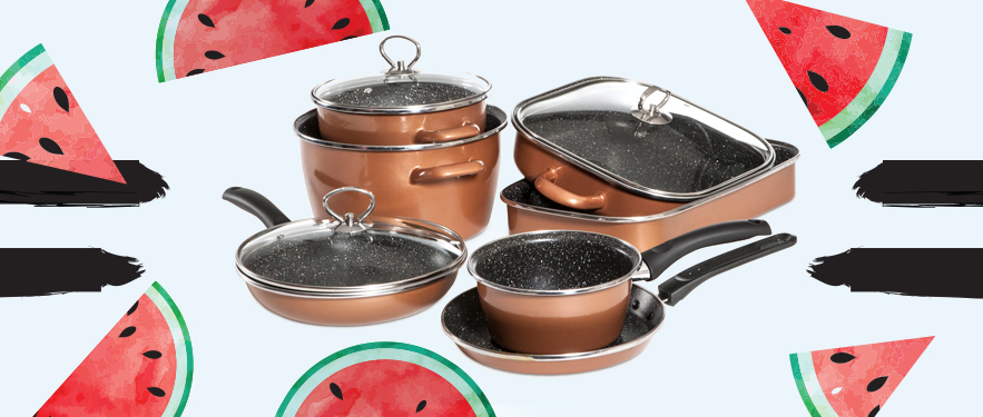 Набор посуды из 10 штук CopperLUX Mega